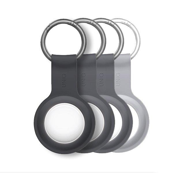 UNIQ Lino Silicon AirTag Case 4pack Grey