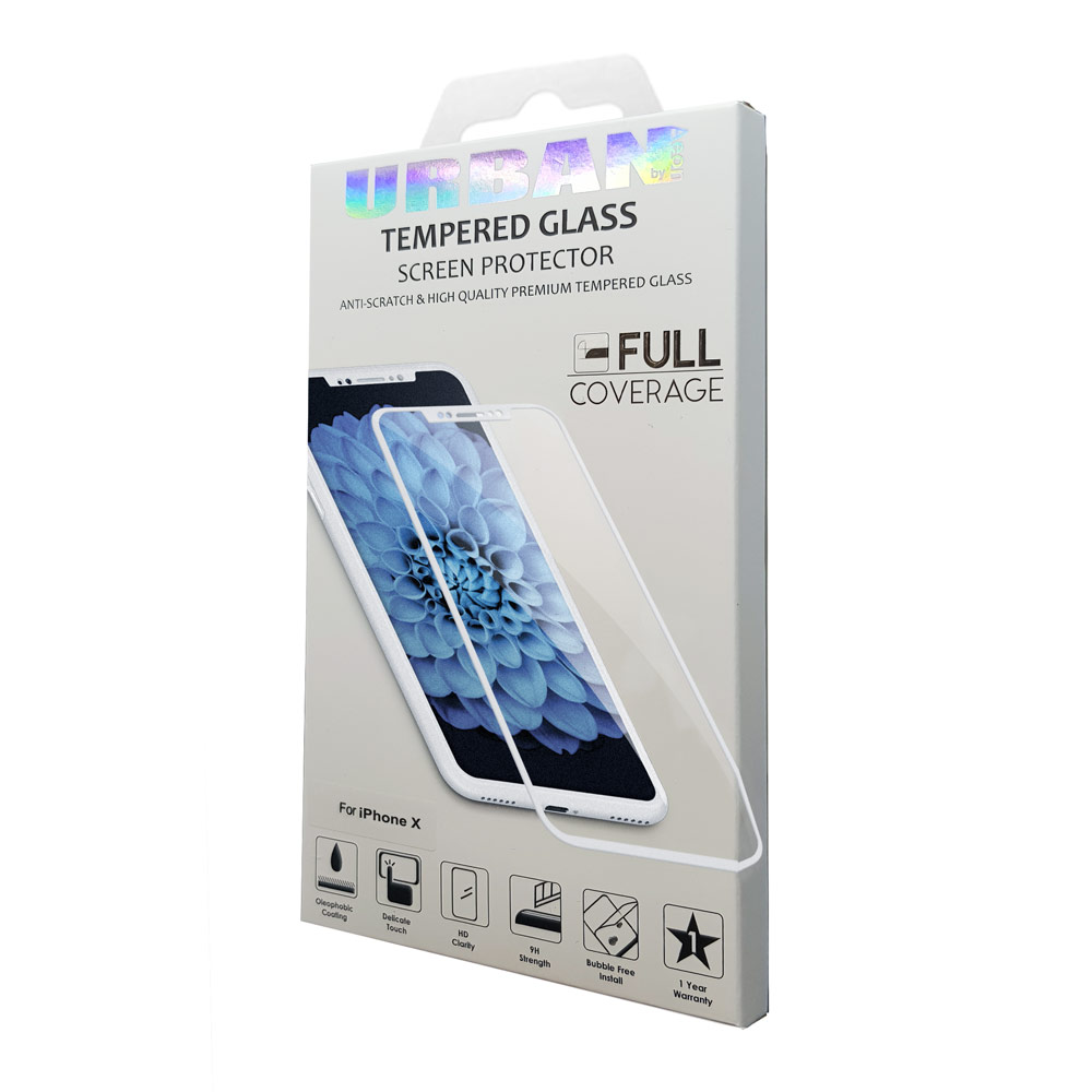 Urban Glass Scr Pro Ip X Xs White Screen Protector Product Tempered Oppo F3 3d Full Cover Premium