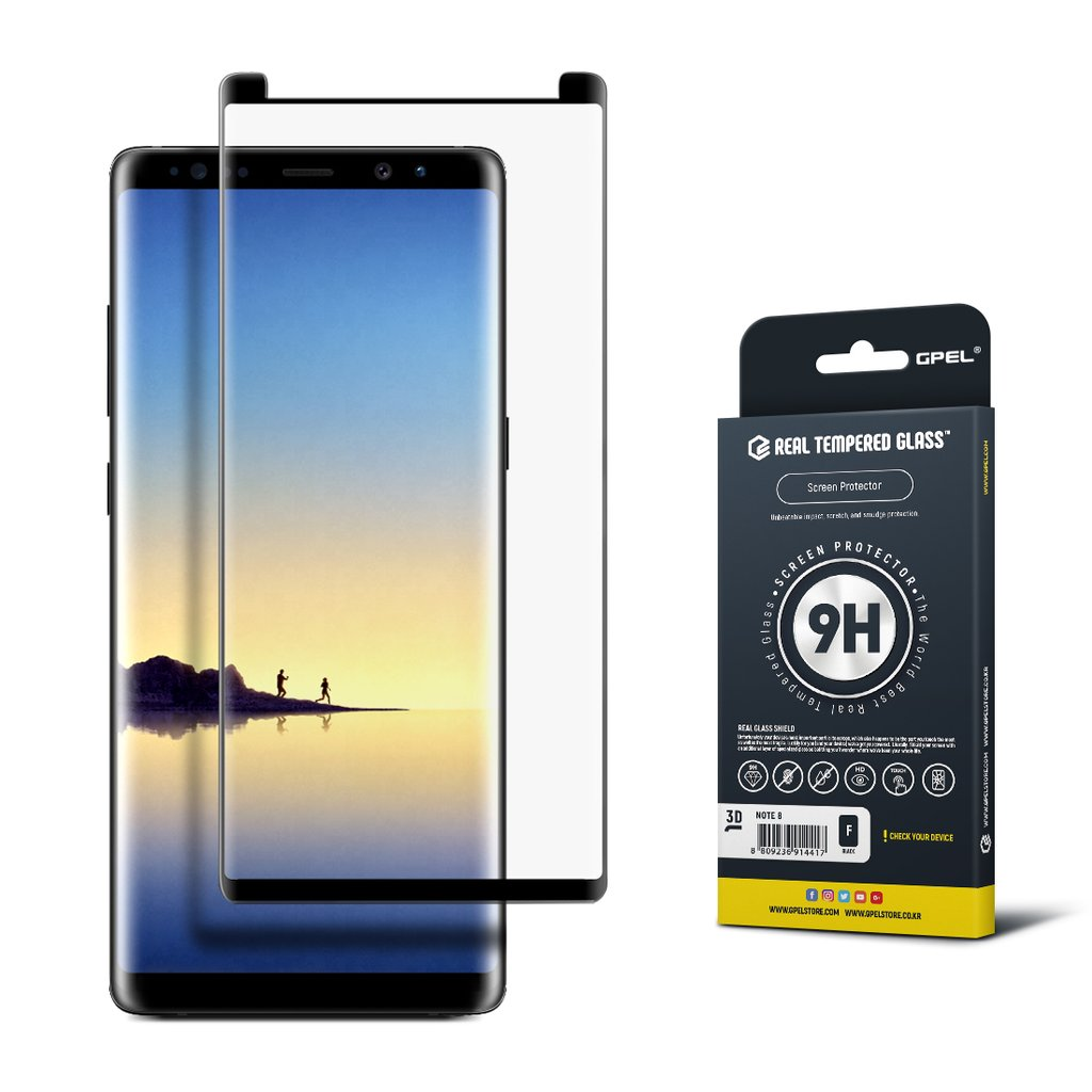 Gpel Glass Scr Pro Note 8 Black Screen Protector Product Detail Tempered Oppo F3 3d Full Cover White Premium