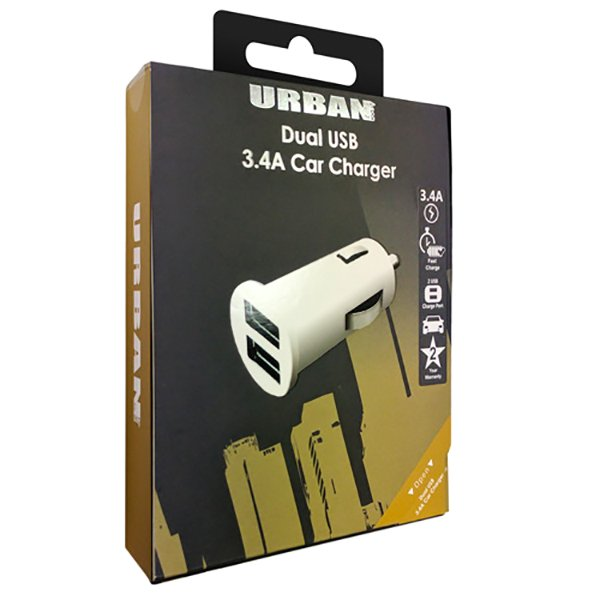 Urban Dual Car Charger 3.4A Adaptor - Click to enlarge