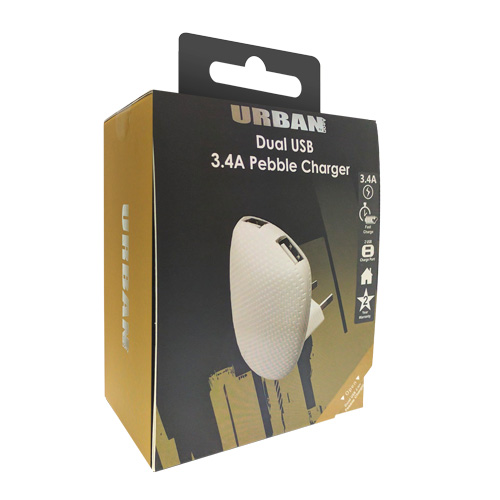 Urban Dual Ac Charger 3.4A Adaptor - Click to enlarge