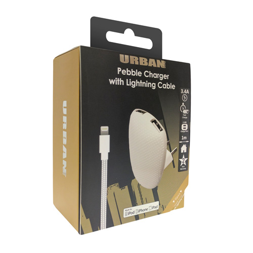 Urban Dual Ac Charger 3.4A lightning - Click to enlarge