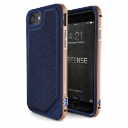 X-Doria Def Lux iPhone 7  Blue/Gold - Click for more info