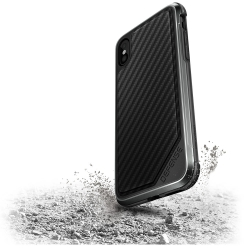 X-Doria Def Lux iPhone X Black Carbon - Click for more info