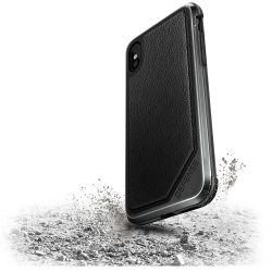 X-Doria Def Lux iPhone X Black Leather - Click for more info