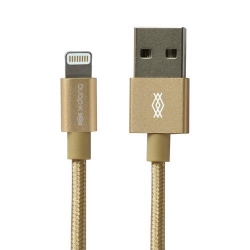 X-Doria Lightning Metallic Cable 1M GLD - Click for more info