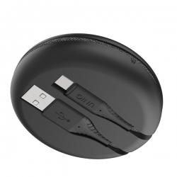 UNIQ Halo USB A to C Cable 1.2m Black