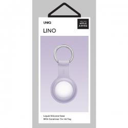 UNIQ Lino Silicon AirTag Case Lavender
