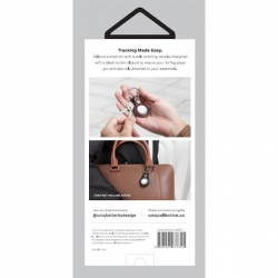 UNIQ Domus Leatherette AirTag Case Pink