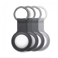 UNIQ Lino Silicon AirTag Case 4pack Grey - Click for more info