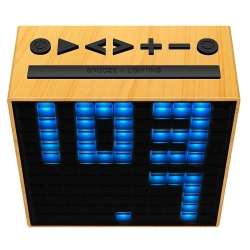 Divoom TimeBox Bluetooth Speaker WOOD - Click for more info