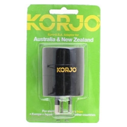 Korjo adaptor for Japan, USA, Europ - Click for more info