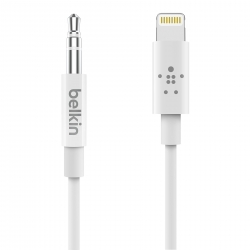 Belkin Lightning Audio Cable 3ft  WHT - Click for more info