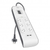 Belkin 6 Outlet with 2MCord & 2USB Port - Click for more info