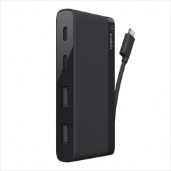 Belkin USB-C 4-PORT MINI HUB 3.0 Black - Click for more info
