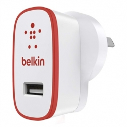 Belkin BOOSTUP 2.4A Home Charger Red - Click for more info