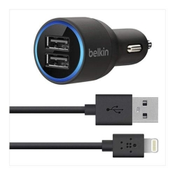 Belkin Dual CarCharger with Lightning - Click for more info