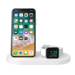 Belkin Wireless Dock iWatch & iPhone WHT - Click for more info