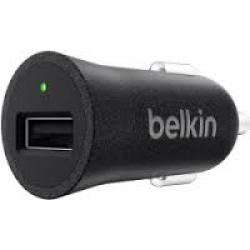Belkin Metallic Car Charger, Black - Click for more info