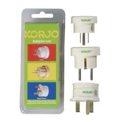 KORJO Adaptor Set Europe, Britian, USA - Click for more info