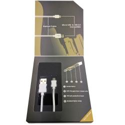Urban Braided Micro Cable 1m White