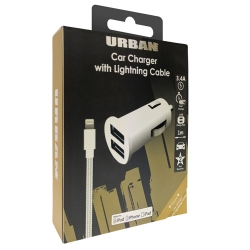 Urban Dual Car Charger 3.4A Lightning - Click for more info