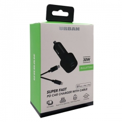 Urban 30W PD Car Charger 1m L Cable