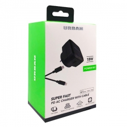 Urban 18W PD AC Charger 1m L Cable